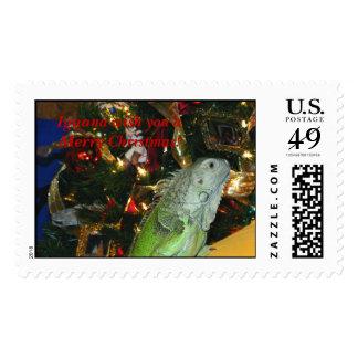 Iguana Wish You A Merry Christmas, Iguana wish ... Stamp