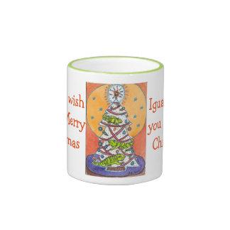 Iguana Wish You a Merry Christmas Mug