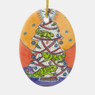 Iguana Wish You a Merry Christmas Ornament