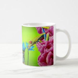 Iguana y rana taza de café