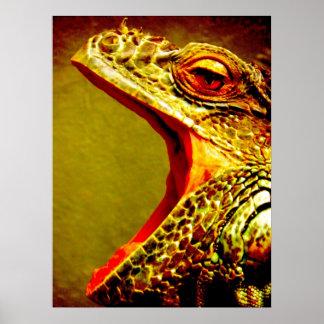 Iguana Yawn Poster
