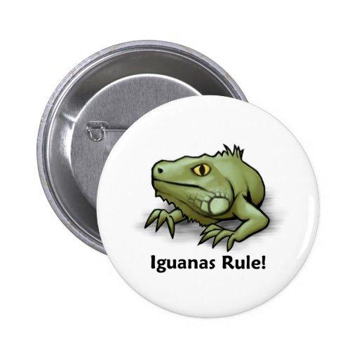 Iguanas Rule! 2 Inch Round Button