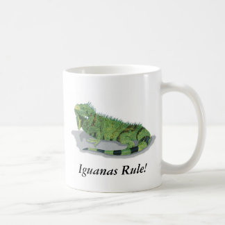 Iguanas Rule! Classic White Coffee Mug