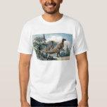 Iguanodon Antique Print T-shirt