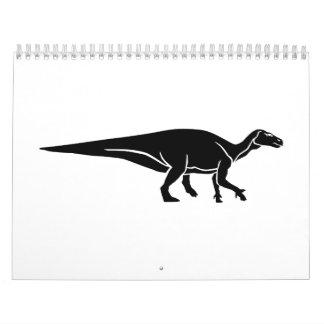 Iguanodon dinosaur calendar