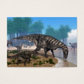 Iguanodon dinosaurs business card