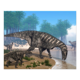 Iguanodon dinosaurs flyer
