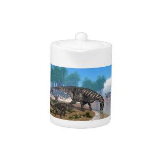 Iguanodon dinosaurs teapot