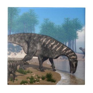 Iguanodon dinosaurs tile