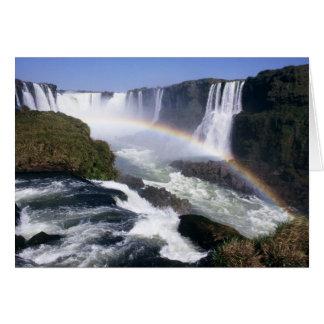 Iguassu Falls, Parana State, Brazil. Aerial view Card