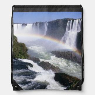 Iguassu Falls, Parana State, Brazil. Aerial view Drawstring Backpack