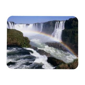 Iguassu Falls, Parana State, Brazil. Aerial view Magnet