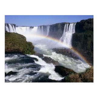 Iguassu Falls, Parana State, Brazil. Aerial view Post Card