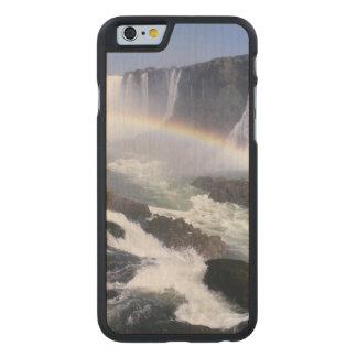 Iguassu Falls, Parana State, Brazil. Aerial view Carved® Maple iPhone 6 Case