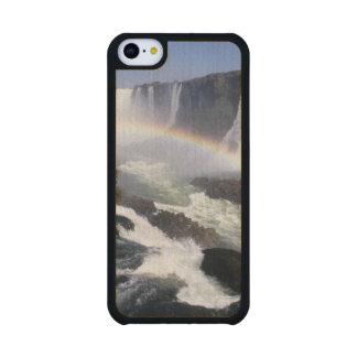 Iguassu Falls, Parana State, Brazil. Aerial view Carved® Maple iPhone 5C Case