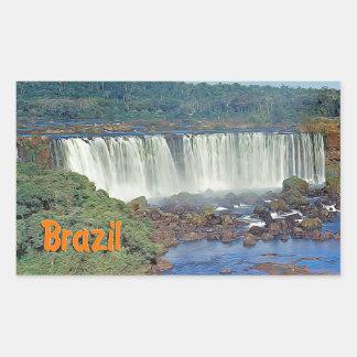 Iguasu Falls  Brazil Rectangle Stickers