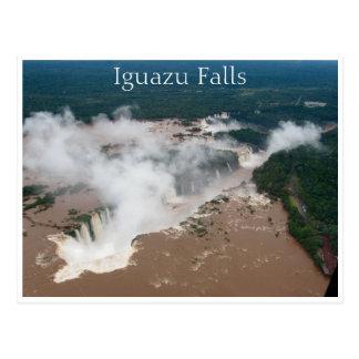 iguazu aerial postcard