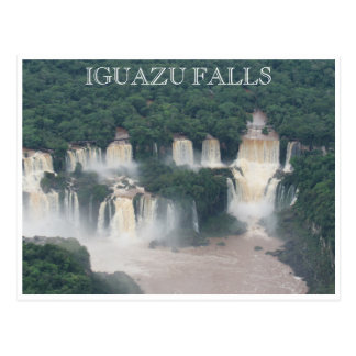iguazu cataratas brazil postcard