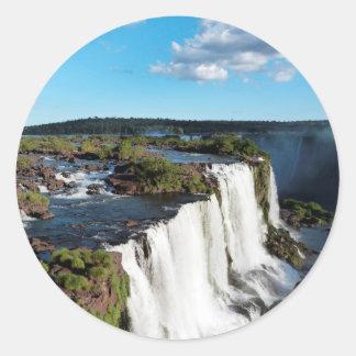 Iguazu Falls 3 Classic Round Sticker