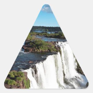 Iguazu Falls 3 Triangle Sticker