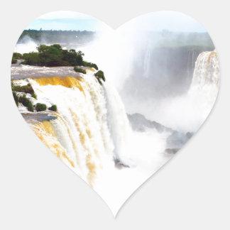Iguazu Falls 4 Heart Sticker