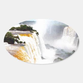 Iguazu Falls 4 Oval Sticker