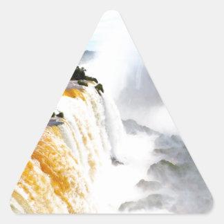Iguazu Falls 4 Triangle Sticker