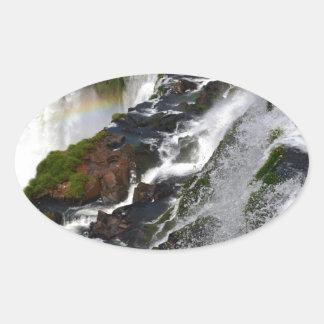 Iguazu Falls 5 Oval Sticker