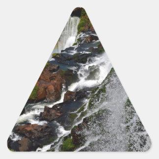 Iguazu Falls 5 Triangle Sticker