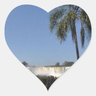Iguazu Falls 6 Heart Sticker