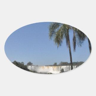 Iguazu Falls 6 Oval Sticker