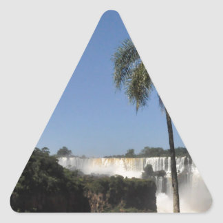 Iguazu Falls 6 Triangle Sticker