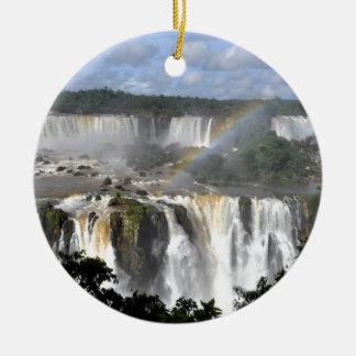Iguazu Falls 7 Double-Sided Ceramic Round Christmas Ornament