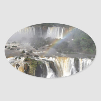 Iguazu Falls 7 Oval Sticker