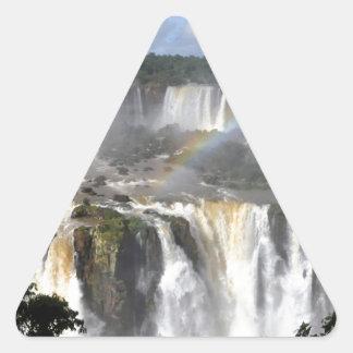 Iguazu Falls 7 Triangle Sticker