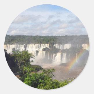 Iguazu Falls 8 Classic Round Sticker