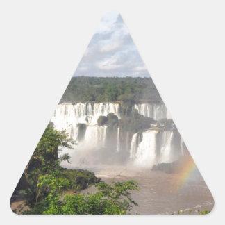 Iguazu Falls 8 Triangle Sticker