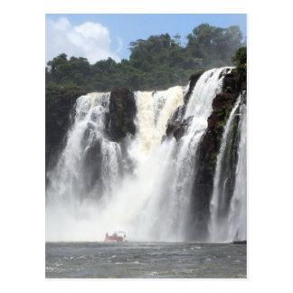 Iguazu Falls and boats, Argentina Postcard