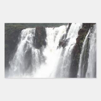 Iguazu Falls and boats, Argentina Rectangular Sticker