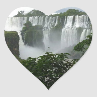 Iguazu Falls Argentina Heart Sticker