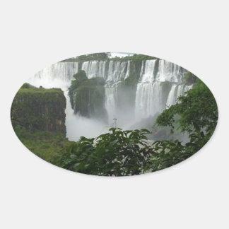 Iguazu Falls Argentina Oval Sticker