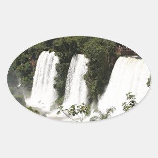 Iguazu Falls, Argentina, South America Oval Sticker