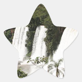 Iguazu Falls, Argentina, South America Star Sticker