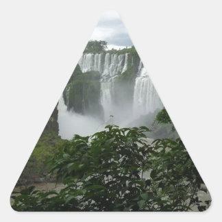 Iguazu Falls Argentina Triangle Sticker