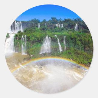 iguazu-falls-brazil-Angie.JPG Classic Round Sticker