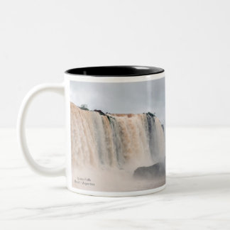 Iguazu Falls Brazil / Argentina Two-Tone Coffee Mug