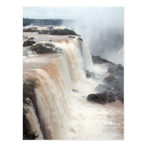 iguazu falls Brazill Postcard