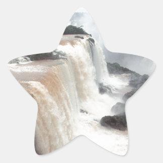 iguazu falls Brazill Star Sticker