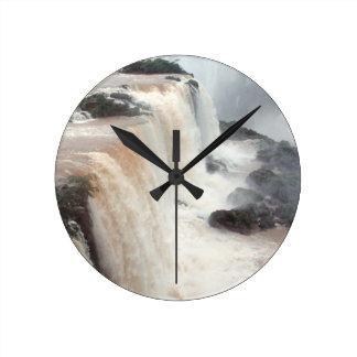 iguazu falls Brazill Wall Clock
