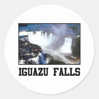Iguazu Falls Classic Round Sticker